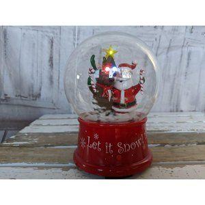 Gemmy Xmas mini snow globe lights sound